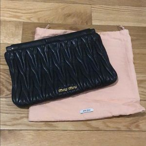 Authentic Miu Miu iconic clutch